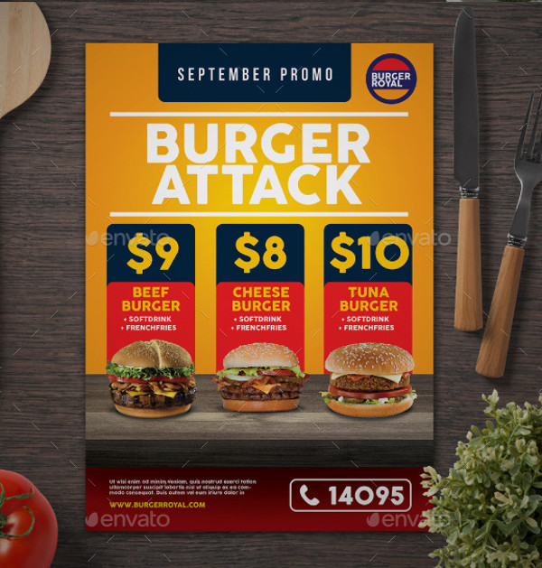 High Quality Burger Flyer
