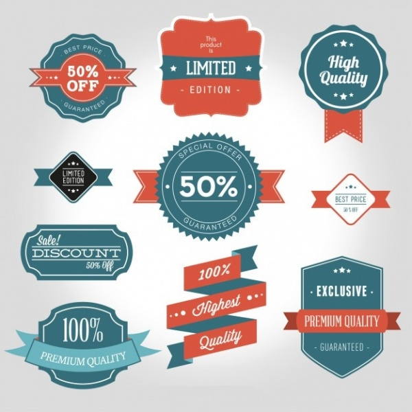 High Quality Products Labels