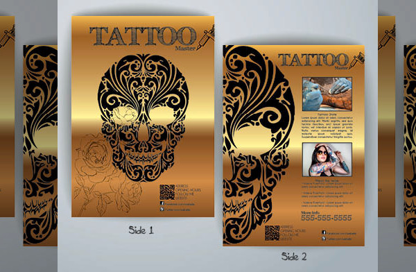 High Quality Tattoo Flyer