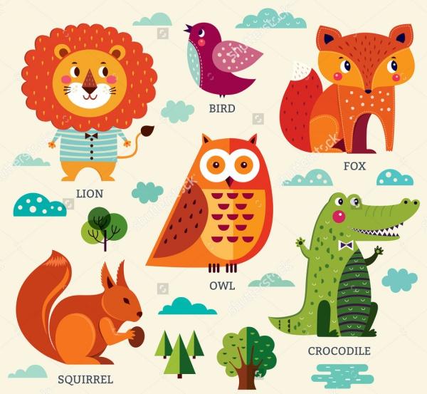 High Resolution Animals Illustrations