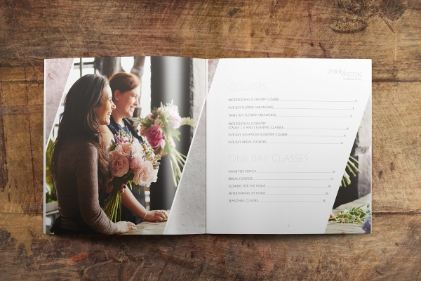 High Resolution Florist Brochure