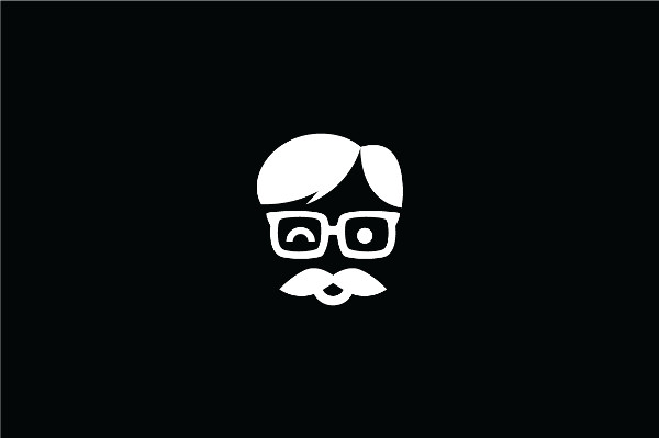 High Resolution Geek Mustache Logo