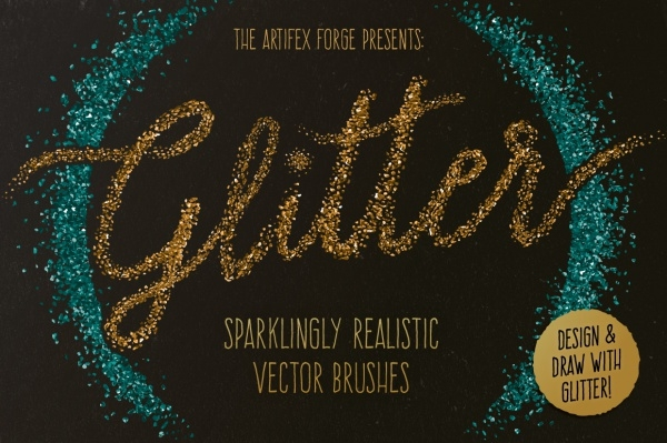 High Resolution Glitter Brushes