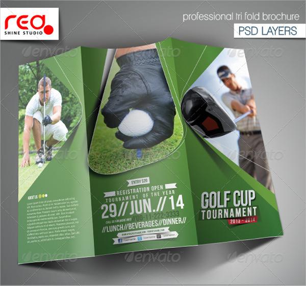 High Resolution Golf Event Tournament Brochure