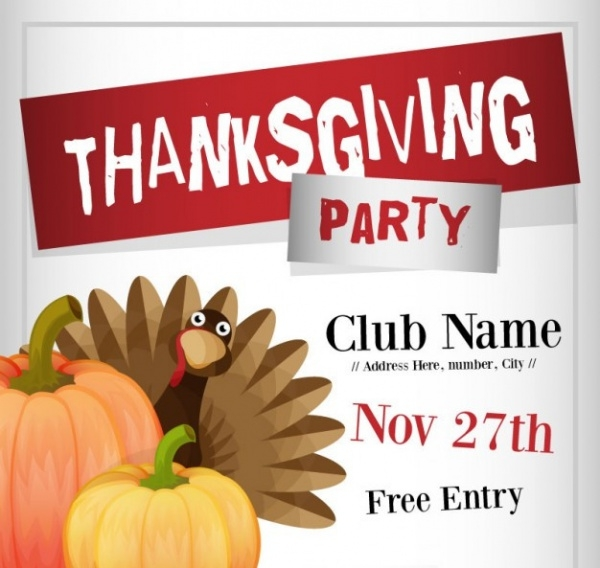 High Resolution Thanksgiving Flyer Design