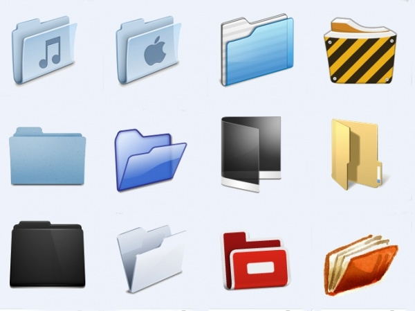 High Resolution Transparent Folder Icons