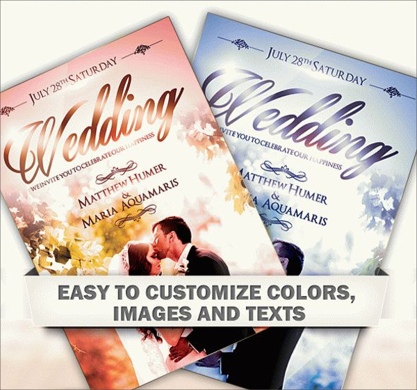 High Resolution Wedding Flyer Design