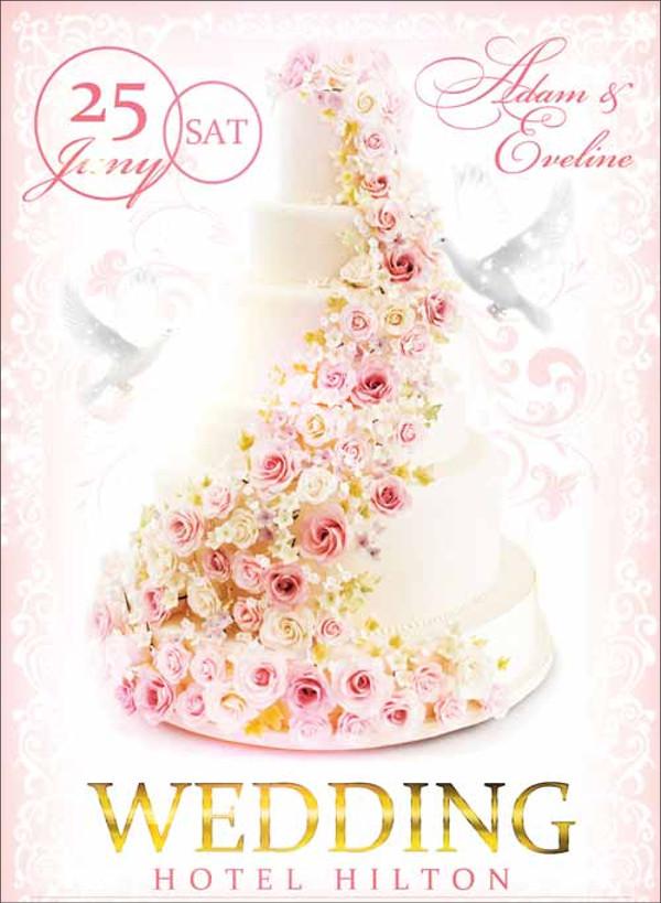 Highly Customizable Wedding Flyer Design