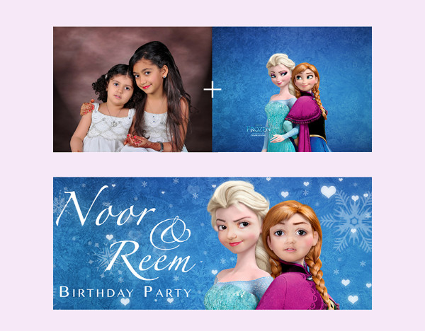 Highly Editable Birthday banner