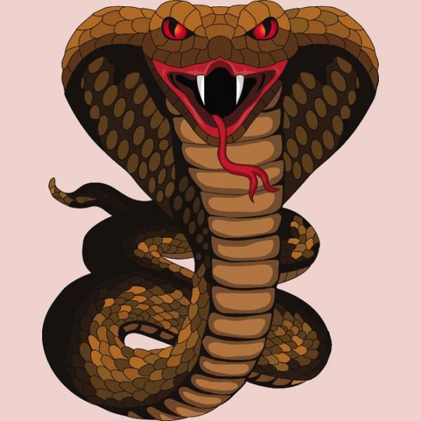 Hissing Snake Monster vector