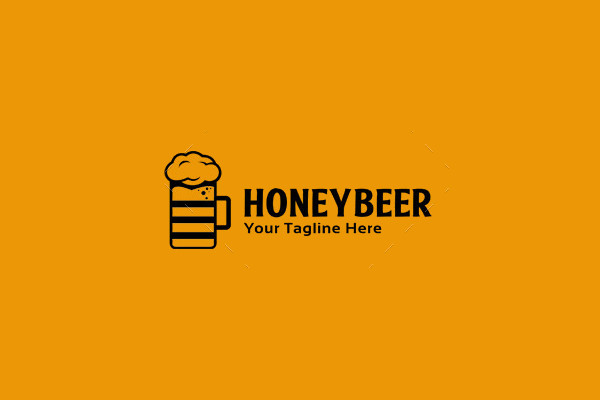Honey Beer Logo Template