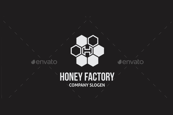 Honey Factory Logo Template