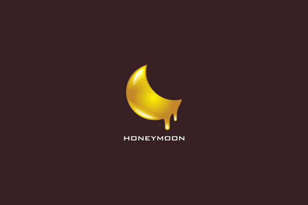 Honey Moon Logo Design