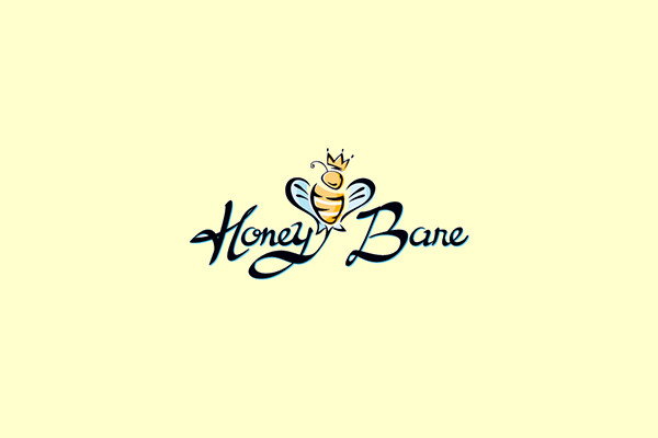 Honeybare Cheesecakes Logo Design