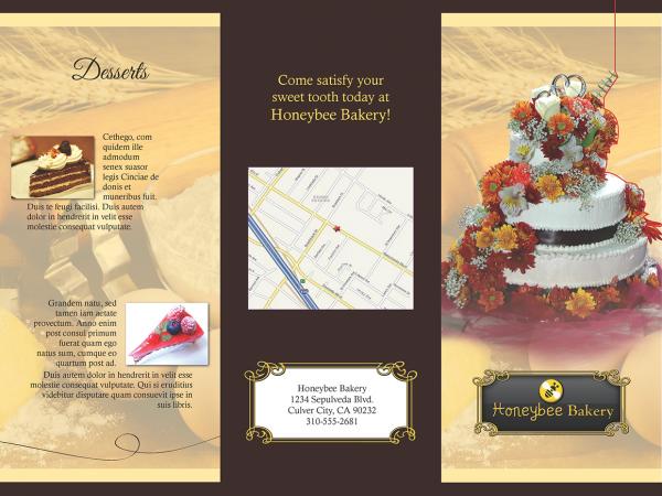 Honeybee Bakery Brochure Design