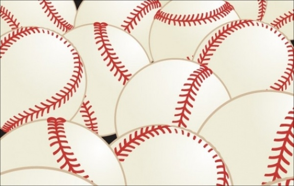 Horizontal Pattern Baseball Vector