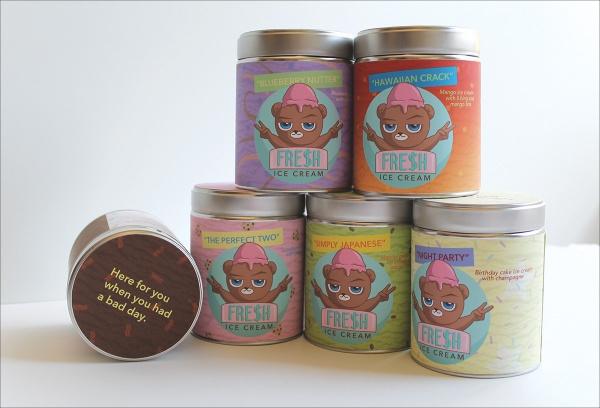 Ice Cream Bear Packaging Design