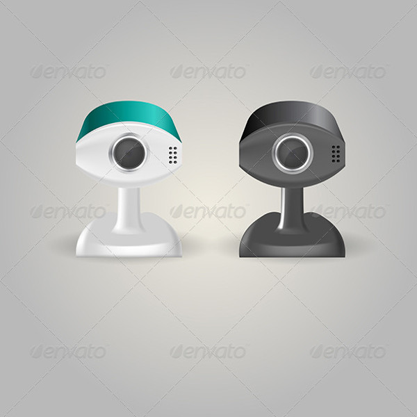 Illustration of Surveillance Cameras