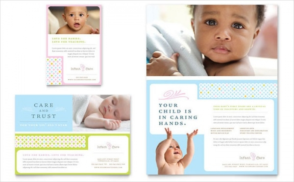 Infant Care & Babysitting Flyer & Ad Design