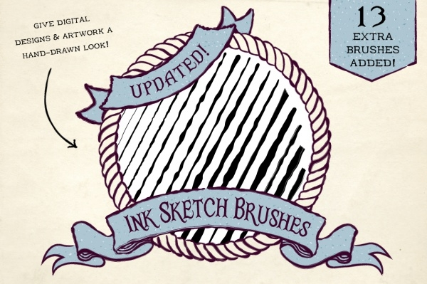 Ink Sketch Graphic Brushes