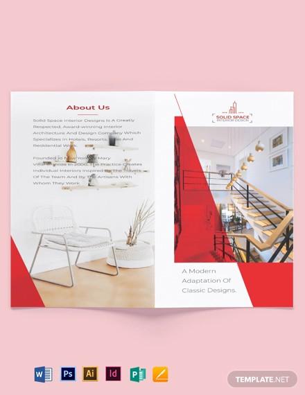 interior designer bi fold brochure template1