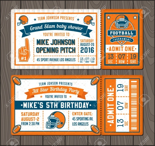 Invitation Tickets for Football Event