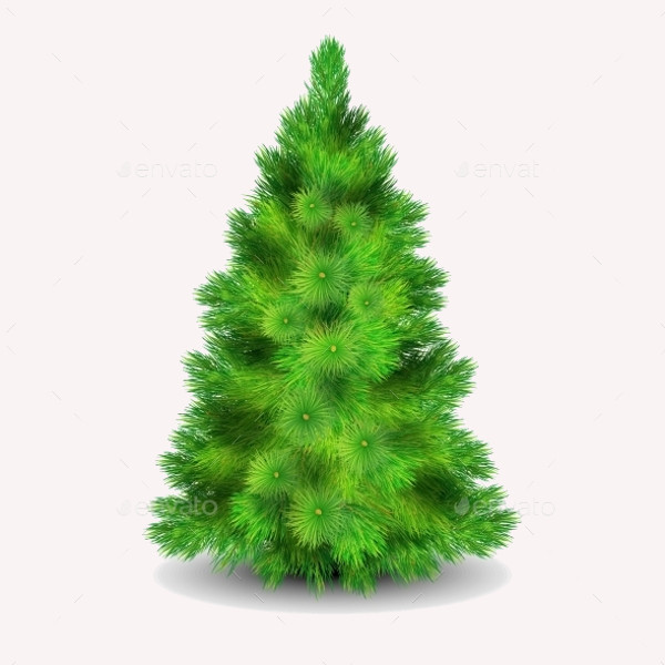 Isolated Christmas Tree Illustration