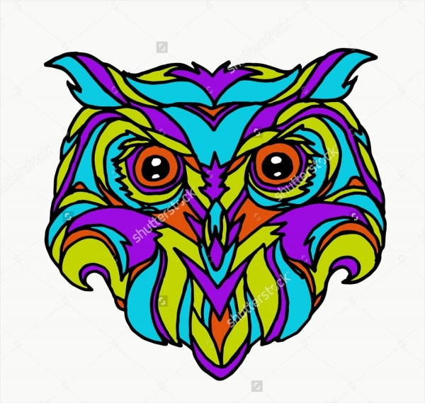 Isolated Owl Clip Vector
