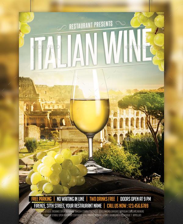 Italian Wine Flyer Template