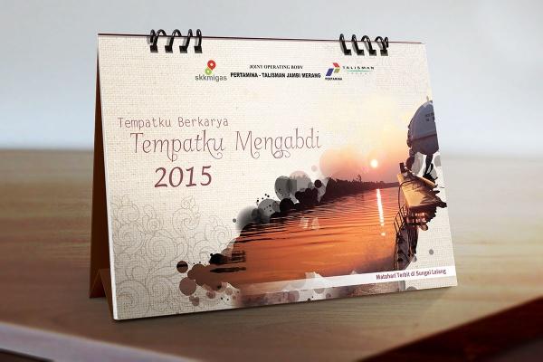 Jambi Merang 2015 Desk Calendar
