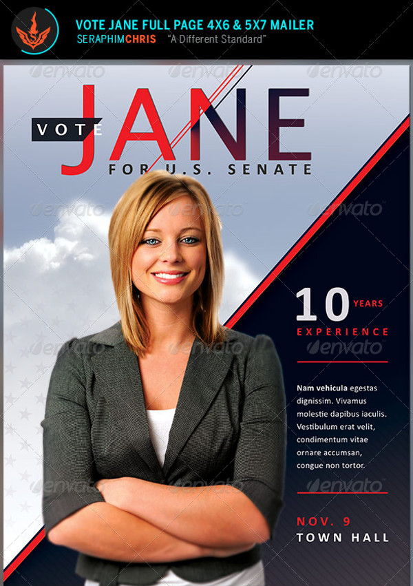 20  elegant political flyer templates  u0026 creatives