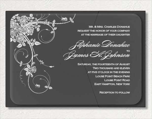 Jardin Acrylic Invitation Template