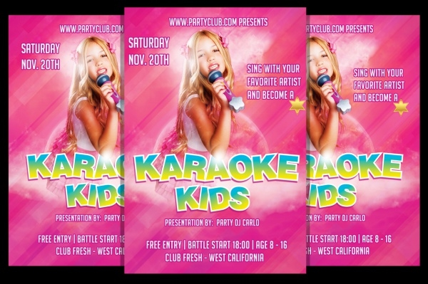 Karaoke Kids Talent Show Flyer Template
