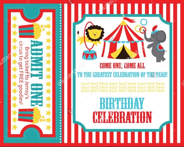 Kid's Carnival Invitation Design