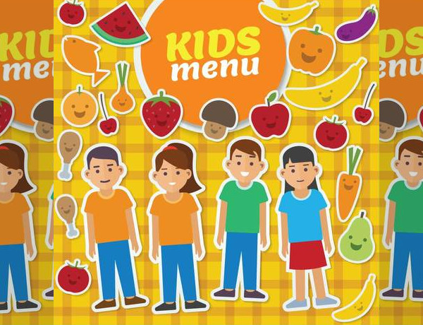 Kids Menu Card Illustration design,