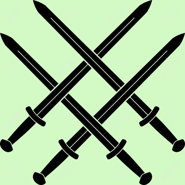 knot swords vector illustration