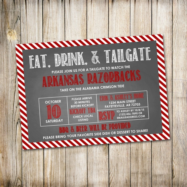 Labor Day Sale Football Invitation