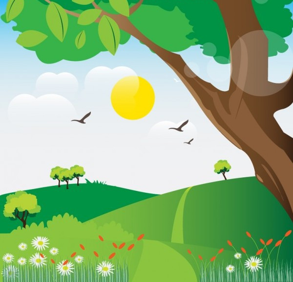 Landscape Illustration Free Vector