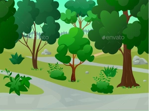 Landscape Park Vector Illustration