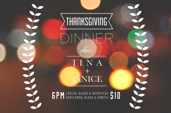 Last Year Thanksgiving Invitation