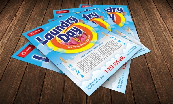 Laundry Cleaning Service Brochure