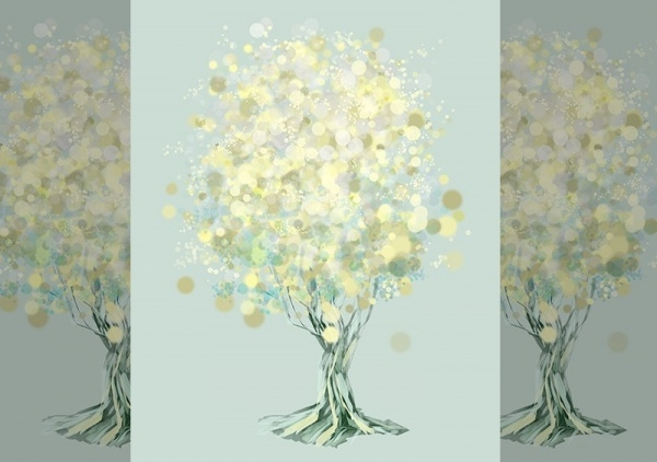 Lemon Bubble Tree Illustration