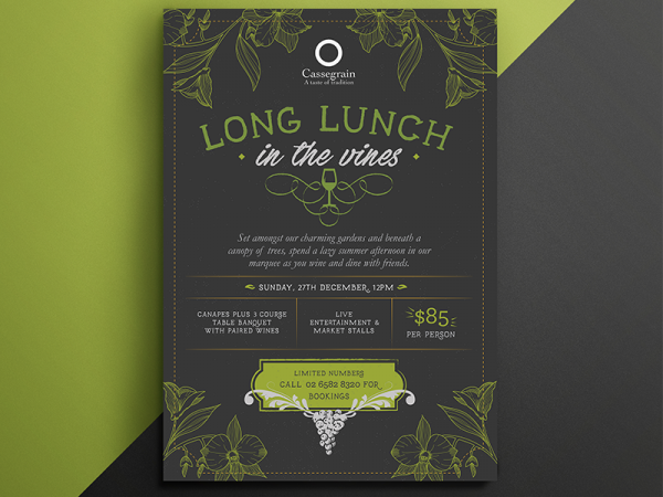 Long Lunch in the Vines Flyer