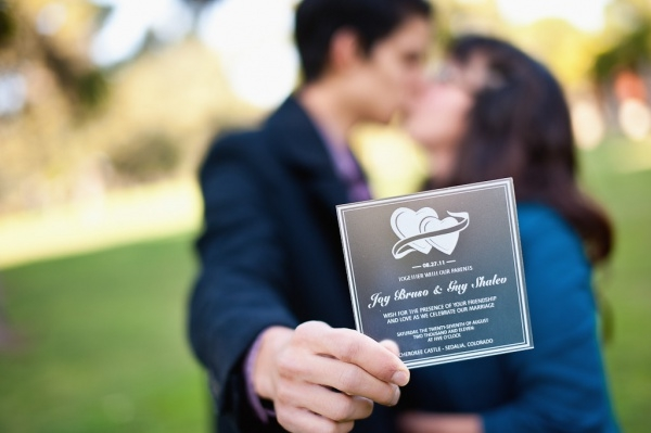 Love Designed Acrylic Wedding Invitation
