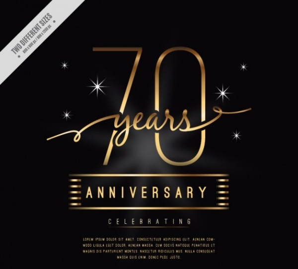 Luxury Seventy Anniversary Invitation Card