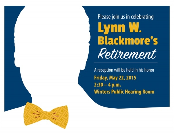 Lynn W Blackmore's Retirement flyer