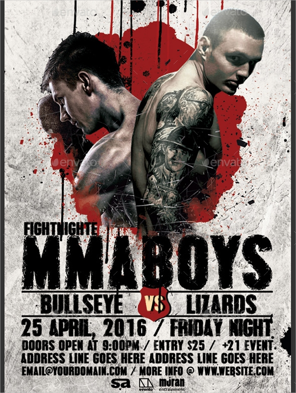 MMA – Boxing Flyer Template