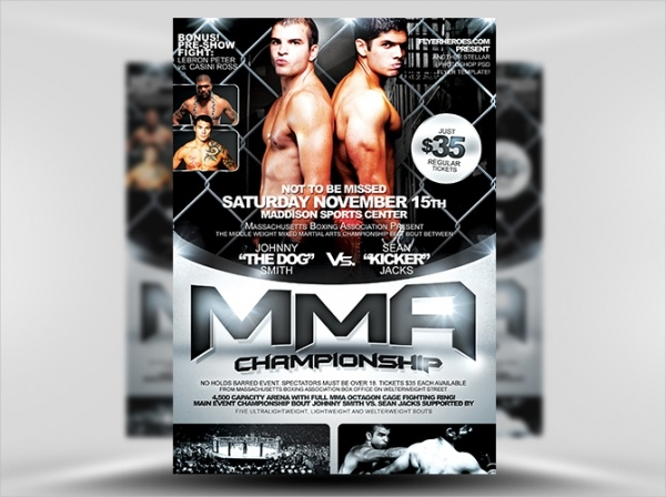 MMA Boxing Event Flyer Template