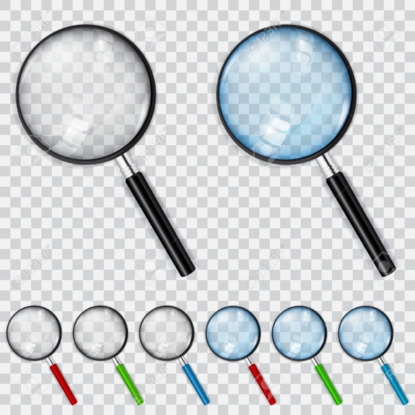 Magnifiers Transparent Icons