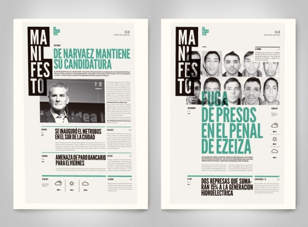 Manifesto Newspaper Advertising Design